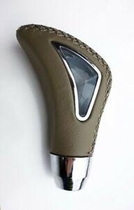 Für Peugeot Uni Schaltknauf Leder Alu Braun Knauf Gear Shift Knob Schaltsack