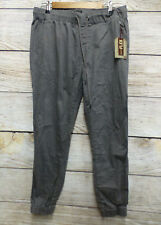 Lazer Co Mens Size Small Grey Twill Stretch Jogger Pants New - Snag