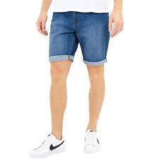 Brave Soul Hommes Ouganda Mi Décontracté Boutonné Short Jeans Bas - S