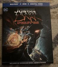 Justice League Dark: Apokolips War Blu-ray/Dvd W/ Slipcover No Digital