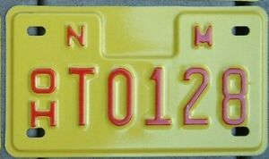 NEW MEXICO MINT Motorcycle Cycle style License plate  Off Highway  OH T0195   ^