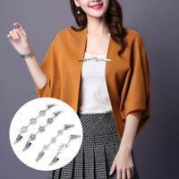 Women Vitnage Cardigan Shawl Blouse Sweater Scarf Flower Duck Clips Clasps Decor
