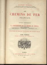 """Edition originale """" LES CHEMINS DE FER FRANCAIS """" 1884, par Alfred Picard"""