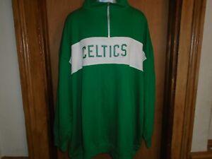 Boston Celtics Majestic Hardwood Classics 1/4 Zip Pullover Shirt 2XL 5XL NWT