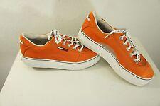 TOMMY HILFIGER Orange Platform Sneakers Tennis shoes sz 7.5 Mesh vent insert EUC