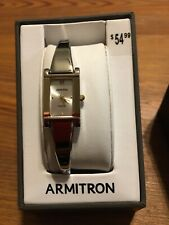 Armitron Watch Womens Silver Tone Diamond Accent