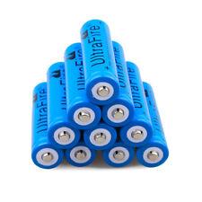 10Pcs BRC 18650 Battery 3.7V Li-ion Rechargeable Batteries For led Flashlight US