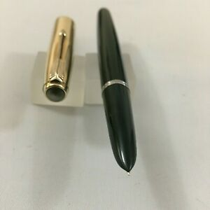 Rare color Parker 51 Mark 1 Cap 1/10 12k Gold Filled olive Green FP 14k Fine USA