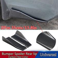 2X35CM Carbon Fiber Style Car Rear Bumper Lip Diffuser Splitter Canard Protector