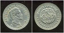 COLOMBIE 20 centavos   1956  ( bis )