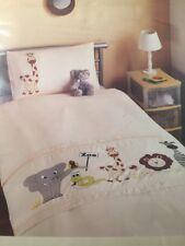 Zoo Animal Print Bedding Duvet Set Giraffe Elephant Lion Zebra Snake