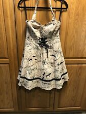 NWT Disney Hot Topic Peter Pan Tinkerbell Corset Neverland Map Dress Size M