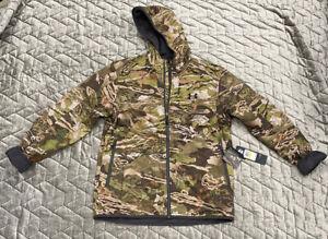 UNDER ARMOUR Forest Hunting Jacket Medium Ridge Reaper Barren Camo Extreme