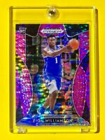 Zion Williamson PINK REFRACTOR ROOKIE PANINI PRIZM DRAFT PICKS RC #64 - Mint!