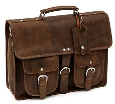 Porterbello Leather Satchel Briefcase Laptop Man Bag