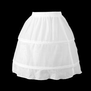 Enfants 2 cerceau robe jupon de mariage fille de fleur court jupon de
