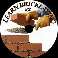LEARN BRICKLAYING SKILLS SIMPLE STEP BY STEP BUILDING TUTORIAL  NEW 2 DVD SET