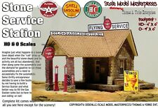 Flying A Service Station Kit Yorke/Scale Model Masterpiece/HOn3 Fine Craftsman