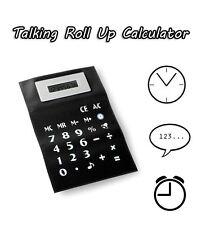 A4 Enrouler Flexible Parlant Calculatrice Automatique Arrêt Horloge Temps Alarme