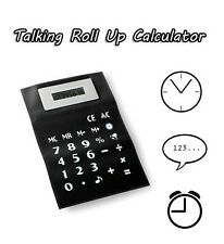 A4 Roll Up flessibile parlando CALCOLATRICE AUTO OFF Clock Time Allarme Striscia Magnetica