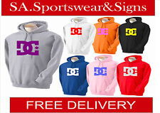 CHILDRENS HEAVY BLEND PERSONALISED PRINTED DC SHOE LOGO  HOODIE SIZES S-XL
