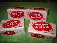 4 BIG Bars of Pink Zote Laundry Soap, FREE FRT! Bait, Shampoo, Hands, 14.1 oz.