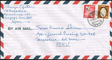 3065 JAPAN TO PERU AIR MAIL COVER 1981 KESENNUMA - LIMA