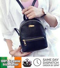 Ladies Casual Black Bag PU Leather Mini Shoulder Travel Backpack Girls Gift