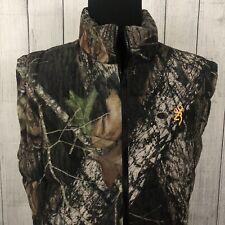 Browning Men's XL Camo Goose Down Duck Reversible Puffer Hunter Shooting Vest