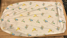 RARE Vintage Sesame Street Fitted Crib Sheet 52 X 30 Fabric Crafting