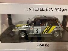 Norev 1/18 Renault Super 5 GT Turbo Tour de Corse 1989 Oreille . Thimoni