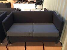 Grey Fabric Tub Sofa 2 Seater Modern Cushion Living Room Home Office Furniture