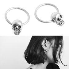 1 Pair Punk Stainless Steel Man Boy Stud Women Fashion Cute Skull Earrings