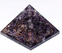 Amethyst Gemstone Orgone Pyramid Healing Energy Generator Orgonite Reiki