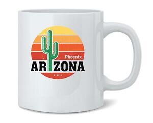 Phoenix Arizona Retro Travel Coffee Mug Tea Cup 12 oz