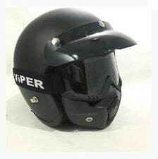 VIPER RS-04 DETACHABLE X4 GOGGLES & MASK FITS ALL RS-04 OPEN FACE HELMETS