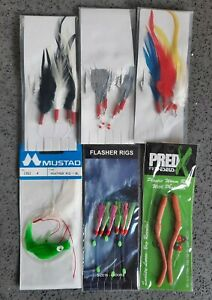 6x Mixed Sea Fishing Rigs various sizes