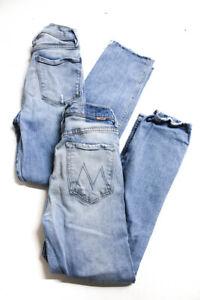 Frame Denim Mother Womens High Rise Light Wash Skinny Jeans Blue Size 27 Lot 2