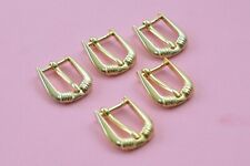 5x kleine Gürtelschnalle Schließe Schnalle für 15 mm Breite, Gold, 80er Jahre