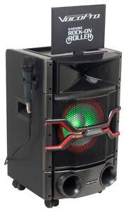 """VOCOPRO Karaoke Rock On Roller Karaoke Machine System w/10"""" Monitor+Lights+Mic"""