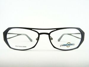 Sportliche Brille mattschwarz ausgefallenes Design Brillenfassungen unisex Gr. M