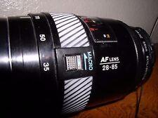 Minolta Maxxum 28-85mm f/3.5-4.5 AF Lens For Minolta w/Priz 55mm skylight (1A)