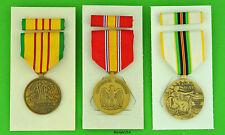 Vietnam Veteran 3 Medal & Ribbon Bar set - Service, Defense, Cold War Victory