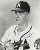 1957 BRAVES Taylor Phillips signed 8x10 photo AUTO Autographed Milwaukee