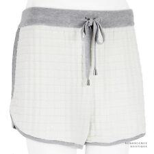 MRZ Ivory Grey Technical Knit Cotton Cashmere Silk Shorts Hotpants L UK12