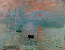Claude Monet Sunrise canvas print giclee 8X12&12X17 art reproduction poster