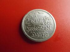 * Freie Stadt Danzig 2 Gulden 1923 Silber * (154) (Alb.3)