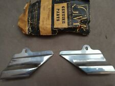 1956 Chevy 210 NOS Lower Side Diamond Shaped Paint Divider Moldings, pair