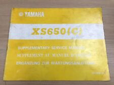 Genuine Yamaha XS650C 1975 1st Edition Supplementary Service Manual 1E1-28197-80