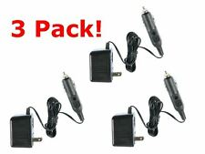 3 Pack - 120V AC to 12V DC Cigarette Plug Wall Adapter Plug-In Transformer NEW